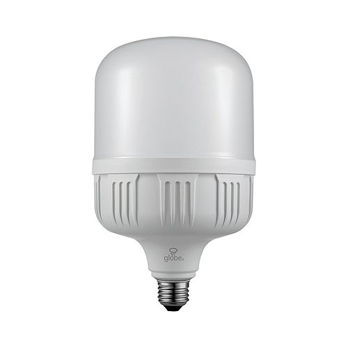 Globe Electric 250W Equivalent Daylight (5000K) T140 High Power Non-Dimmable LED Bulb with E26/E39 Adapter Base