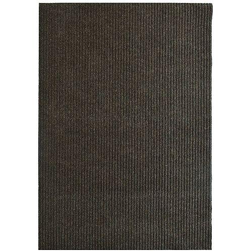 Tapis d'interieur/extérieur rectangulaire, 6 pi x 82 pi, Siamese, brun