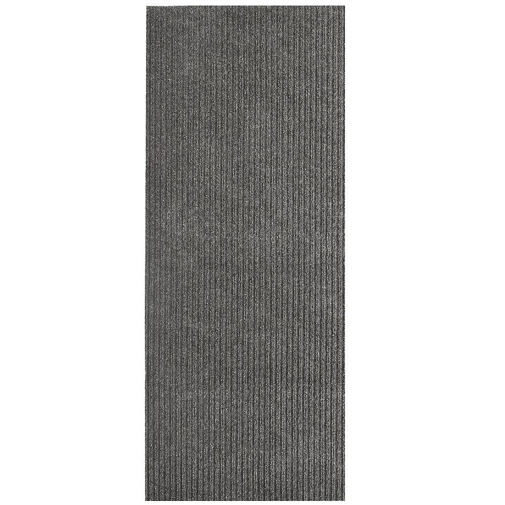 Lanart Rug Tapis d'interieur/extérieur rectangulaire, 6 pi x 28 pi, Siamese, gris