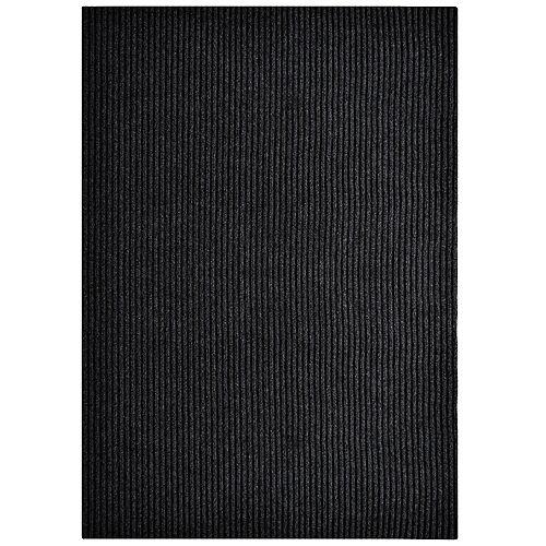 Tapis d'interieur/extérieur rectangulaire, 6 pi x 82 pi, Siamese, noir