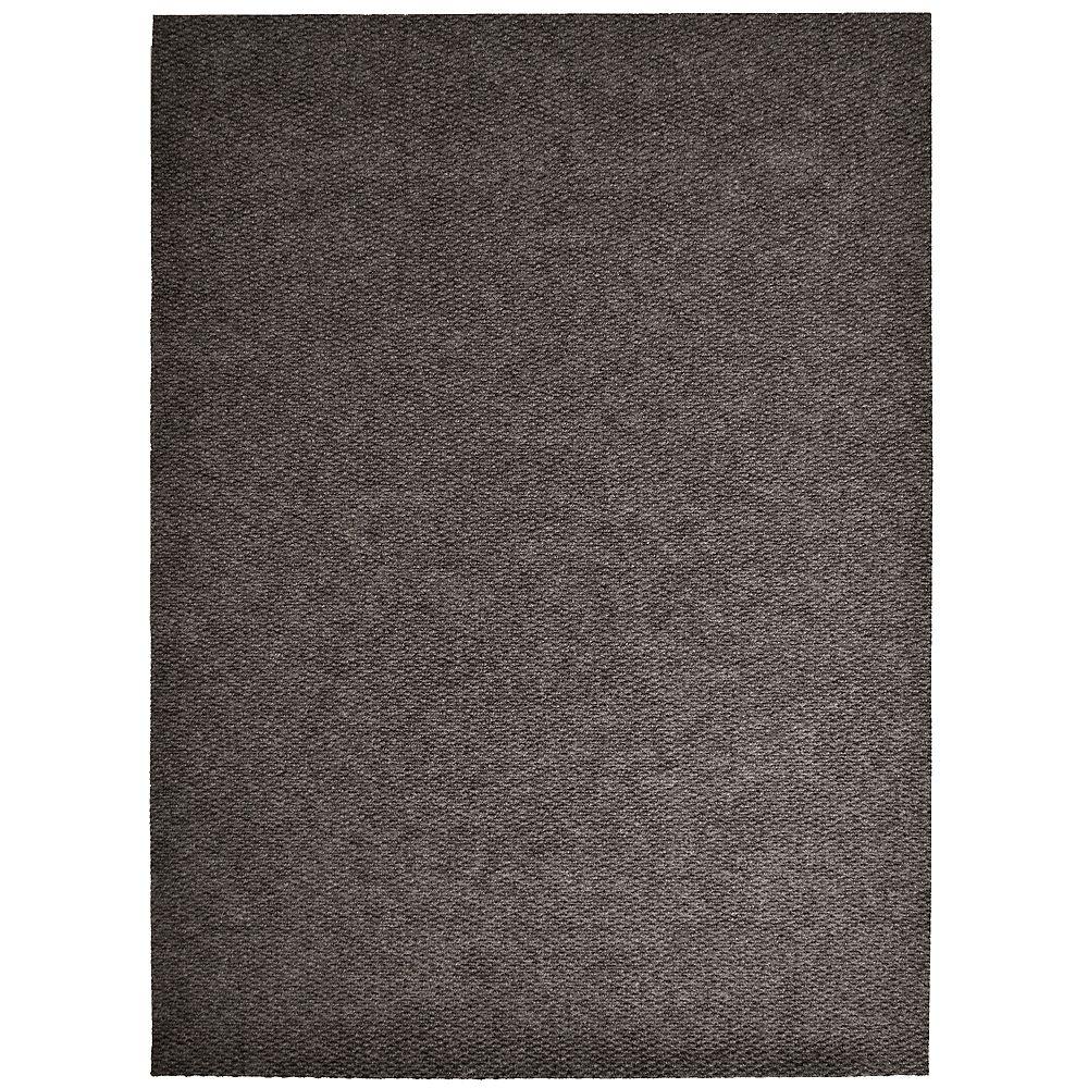 Lanart Rug Tapis d'interieur/extérieur rectangulaire, 4 pi x 7 pi, Impact Popcorn, brun