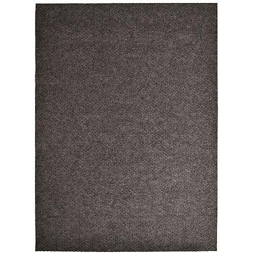 Tapis d'interieur/extérieur rectangulaire, 6 pi x 32 pi, Impact Popcorn, brun