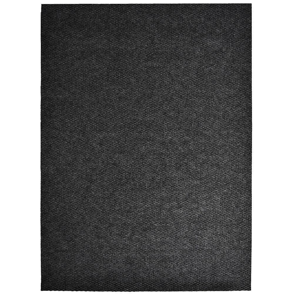 Lanart Rug Tapis d'interieur/extérieur rectangulaire, 3 pi x 16 pi, Impact Popcorn, noir