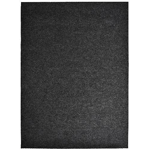 Tapis d'interieur/extérieur rectangulaire, 4 pi x 48 pi, Impact Popcorn, noir