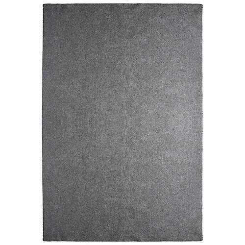 Tapis d'intérieur /extérieur, 12 pi x 25 pi, Solution, gris