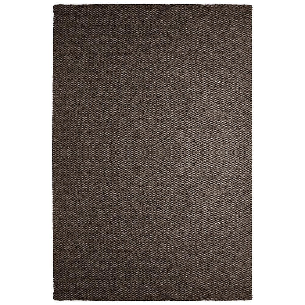 Lanart Rug Tapis d'intérieur /extérieur, 12 pi x 17 pi, Solution, brun