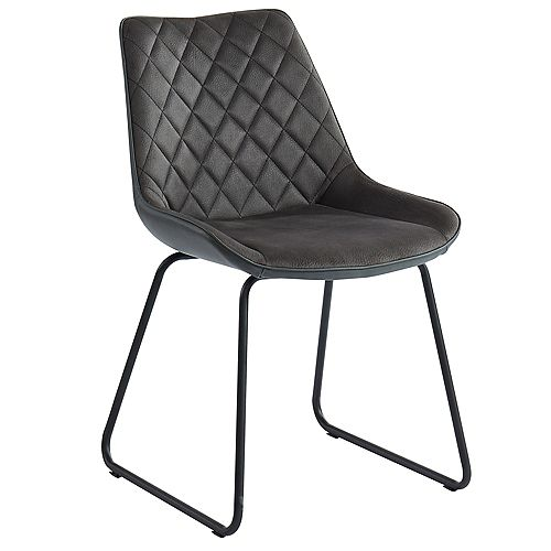 !nspire Calvin-Side Chair-Charcoal (Set Of 2)