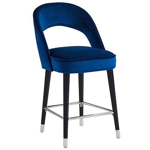 "Vogue-26"" Counter Stool-Blue (Set Of 2)"