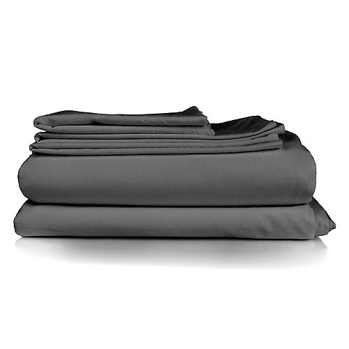 Millano Spa Grey 3 Piece Duvet Cover Set