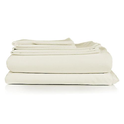 Ensemble housse de couette 3 pièces Milano Spa ivoire