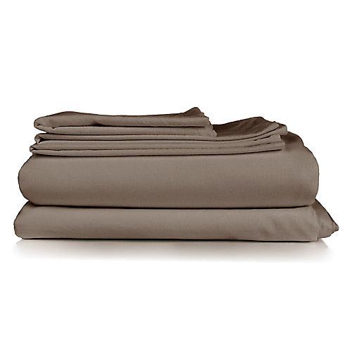 Millano Spa Tan 3 Piece Duvet Cover Set