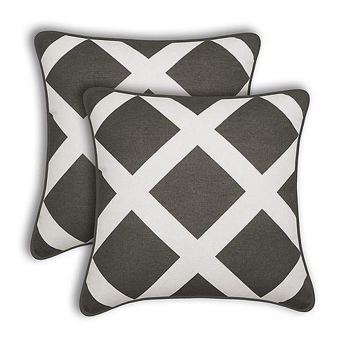 Duncan Grey Decorative Cushion (Set of 2)