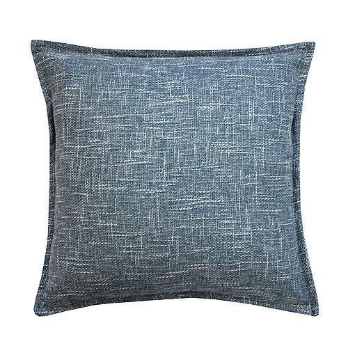Burlap Blue Cushion