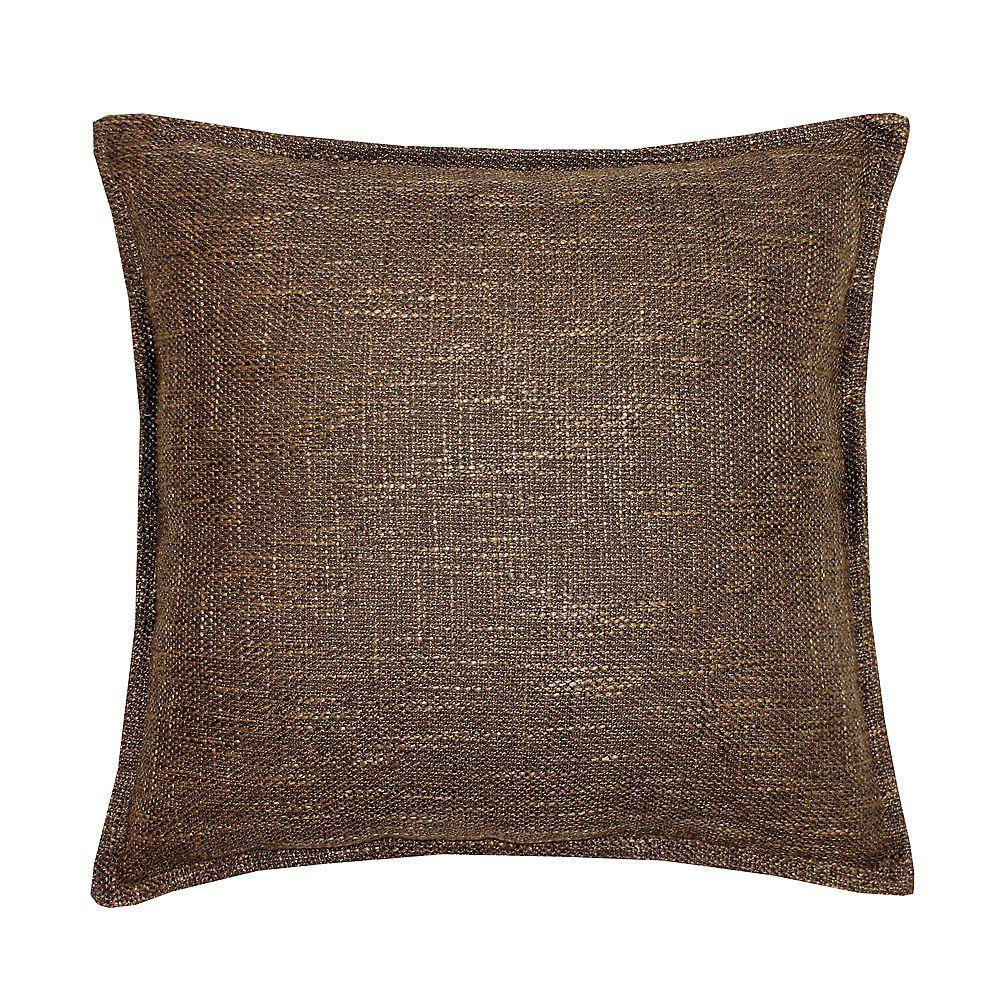 Millano Collection Burlap Brown Cushion