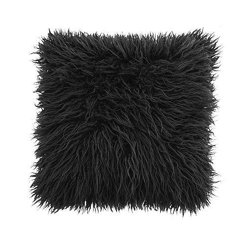 Mongolian Grey Fur Cushion