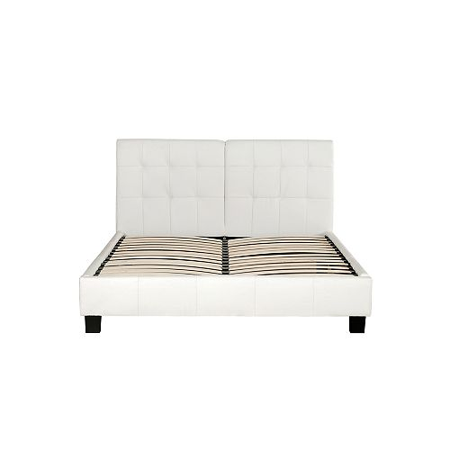 Shawn Faux-Leather Platform Bed, Queen