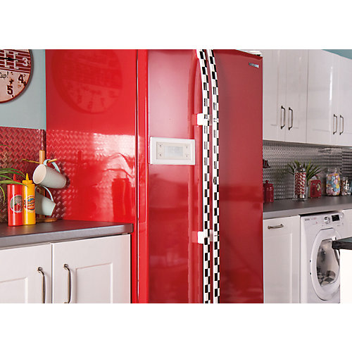 Home Décor Self Adhesive Film 26 inch x 78 inch Glossy Red - 1 Pack