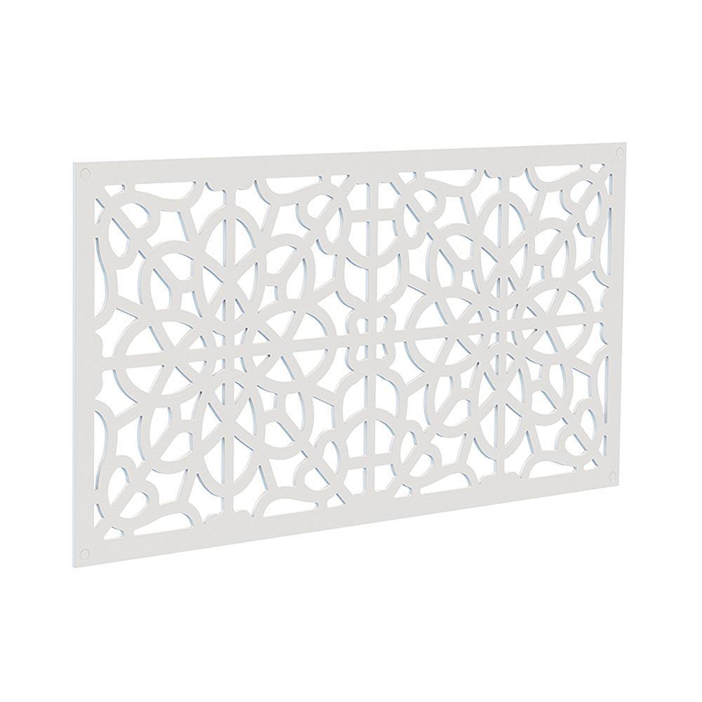 Barrette Decorative screen panel 2x4 - fretwork - white