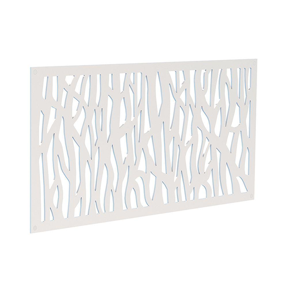 Barrette Decorative screen panel 2x4 - sprig - white