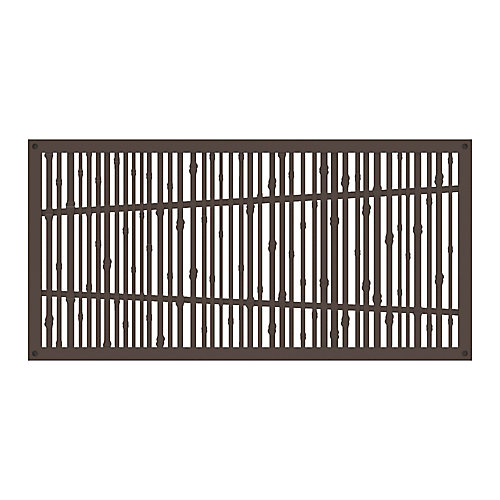 Decorative screen panel 2x4 - bungalow - brazilian walnut