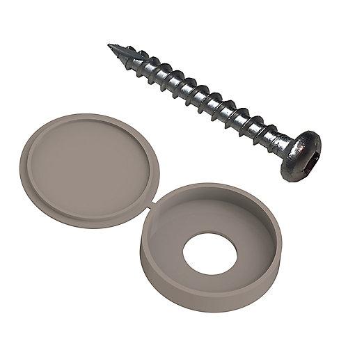 fastener kit for 2x4 decorative panels (12pk) - greige