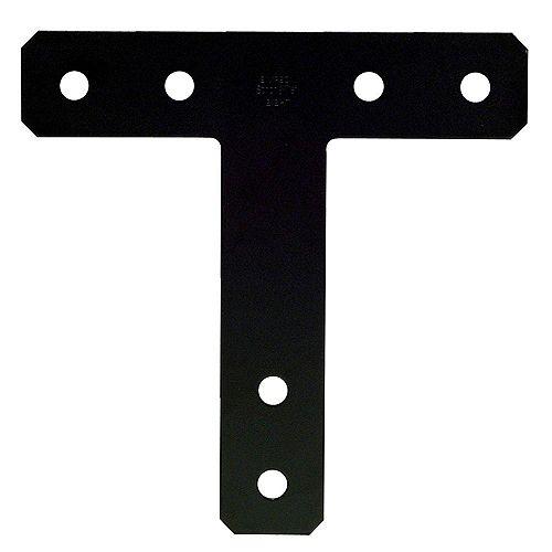 Simpson Strong-Tie Ferrure en T décorative enduite de poudre noire de calibre 7, 12 po x 12 po HTPC