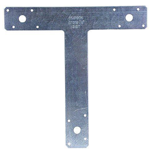 Simpson Strong-Tie Ferrure en T galvanisée de calibre 14, 12 po x 12 po