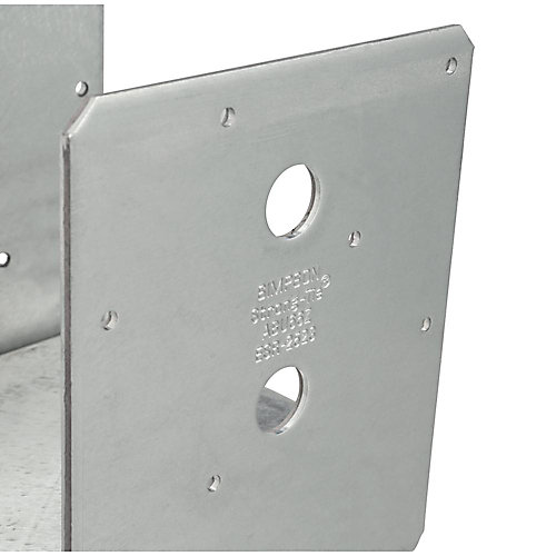ABU ZMAX Galvanized Adjustable Standoff Post Base for 6x6