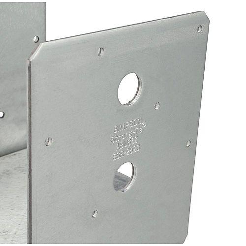 Base de poteau ABU galvanisée ZMAX avec dégagement réglable pour 6x6