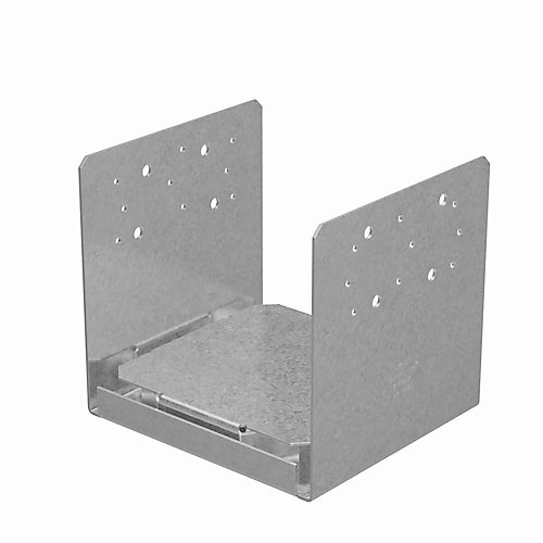 ABU ZMAX Galvanized Adjustable Standoff Post Base for 8x8