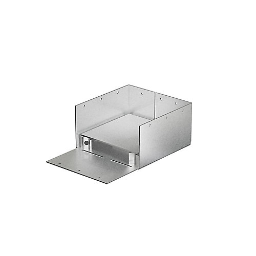 ABW ZMAX Galvanized Adjustable Standoff Post Base for 6x6