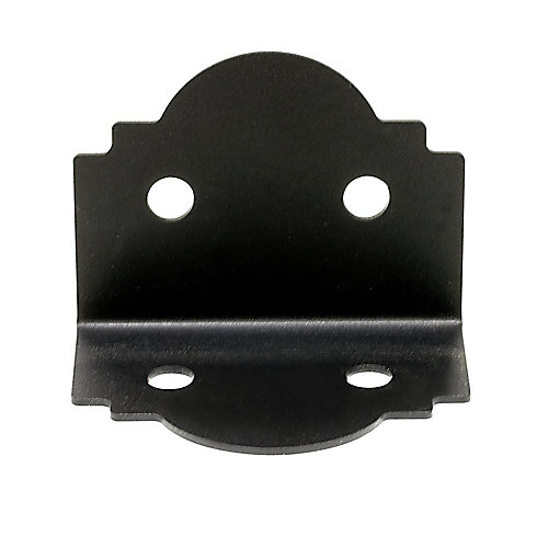 Outdoor Accents ZMAX Galvanized, Black Powder-Coated 90° Angle for 6x