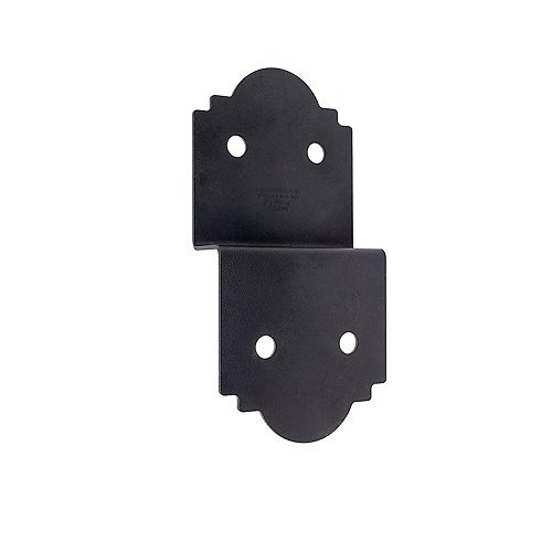 Outdoor Accents 5 inch ZMAX Galvanized, Black Powder-Coat Deck Joist Tie