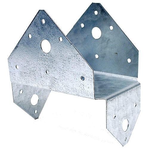 BC ZMAX Galvanized Post Cap for 4x6