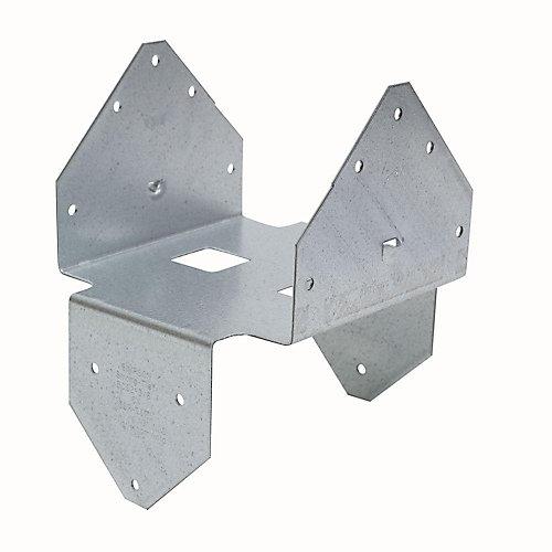 BCS Galvanized Post Cap/Base for Double 3x Beam, 6x Post