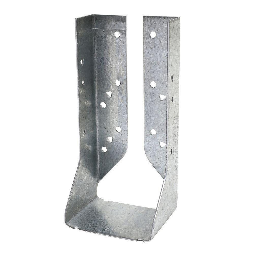 Simpson Strong-Tie HUC ZMAX Galvanized Face-Mount Concealed-Flange Joist Hanger for Double 2x8