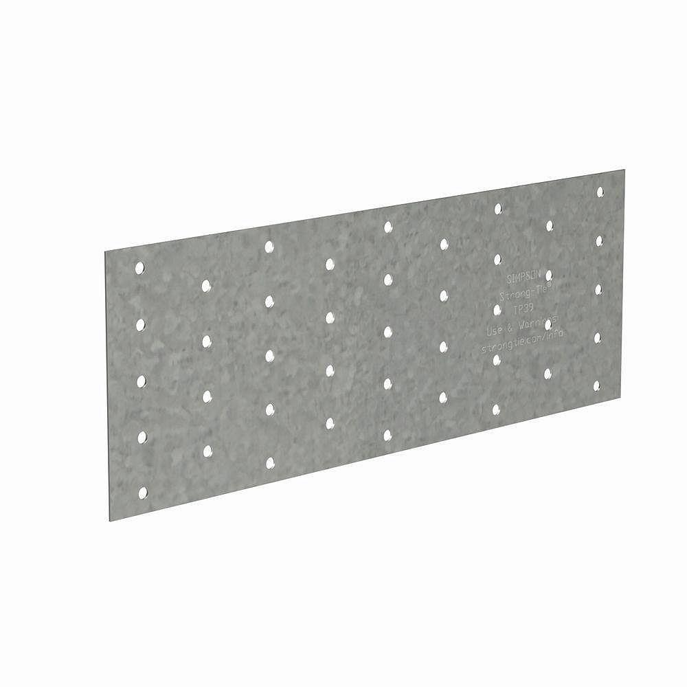 Simpson Strong-Tie Plaque perforée galvanisée de calibre 20, TP 3-1/2 po x 9 po
