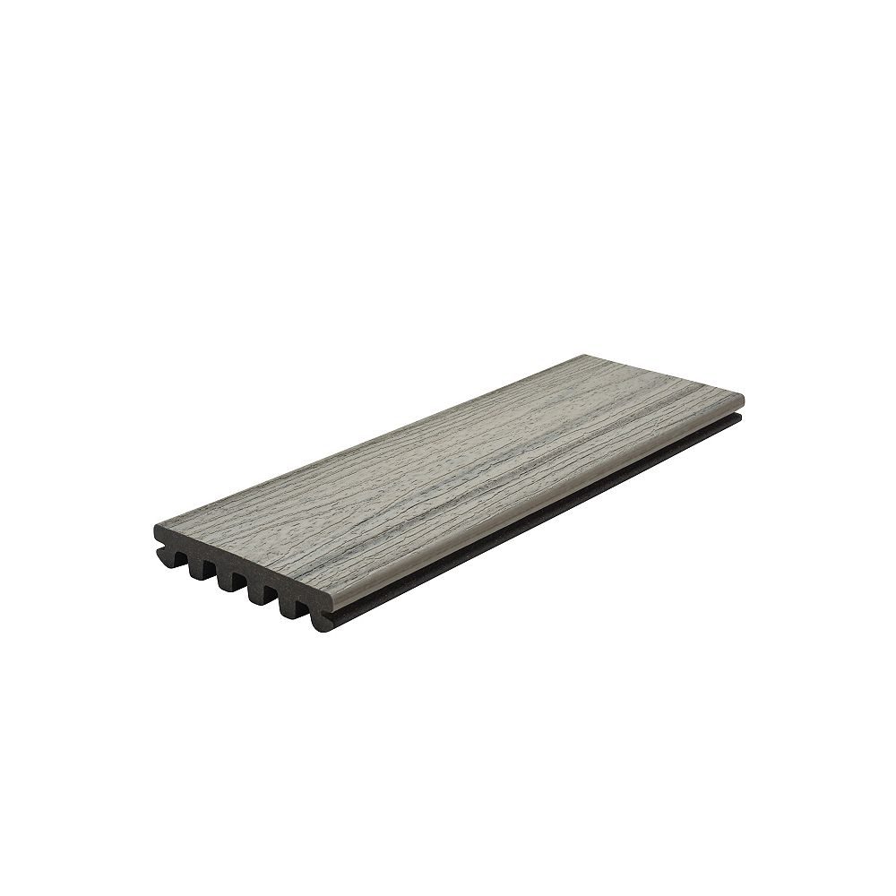 Trex 20 Ft. - Enhance Natural Composite Capped Grooved Decking - Foggy Wharf