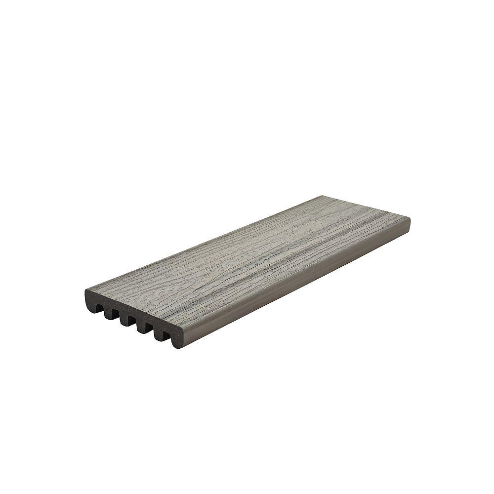 Trex 12 Ft. - Enhance Natural Composite Capped Square Decking - Foggy Wharf