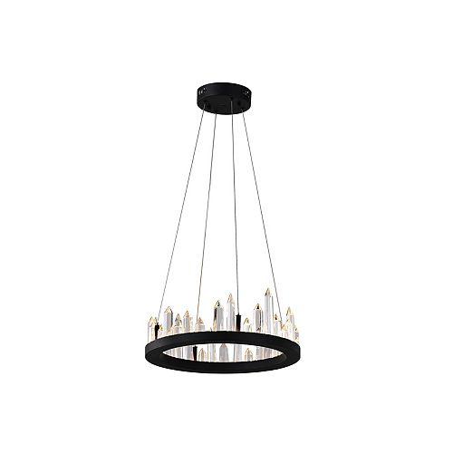 16 inch Juliette LED Lumière Lustre avec Fini Noir