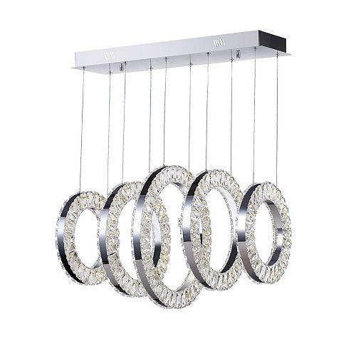 26 inch Celina LED Lumière Lustre avec Fini Chrome