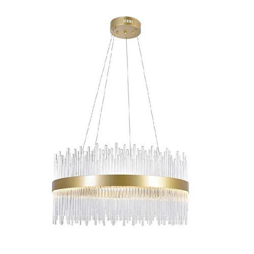 24 pouces Lustre LED avec médaillon d'or Fini De notre collection Geneviève
