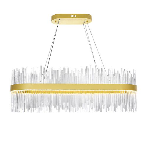 CWI Lighting 39 inch LED Chandelier with Medallion Gold Finish From our Genevieve Collection