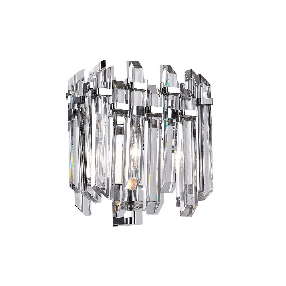 CWI Lighting 6 inch 1 Light Wall Sconce with Chrome Finish From our Henrietta Collection
