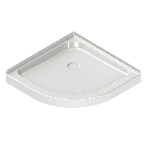 Corner Neo-Round Base 32-inch x 32-inch x 3-inch Centre Drain in White