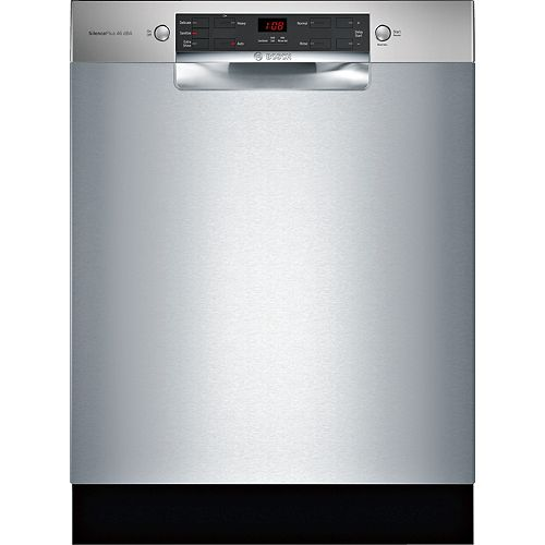 300 Series Front Control 3-Rack 4-Cycle Recessed Handle Dishwasher in Stainless Steel