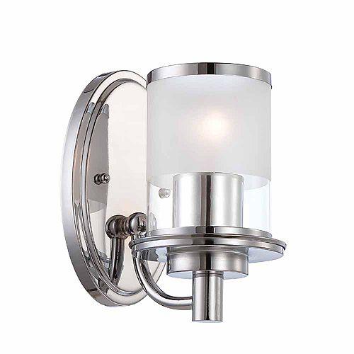 Designers Fountain 1-light bath light, chrome finish