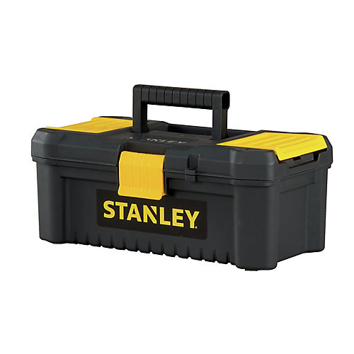 Essential 12-1/2-inch Tool Box with Lid Organizers