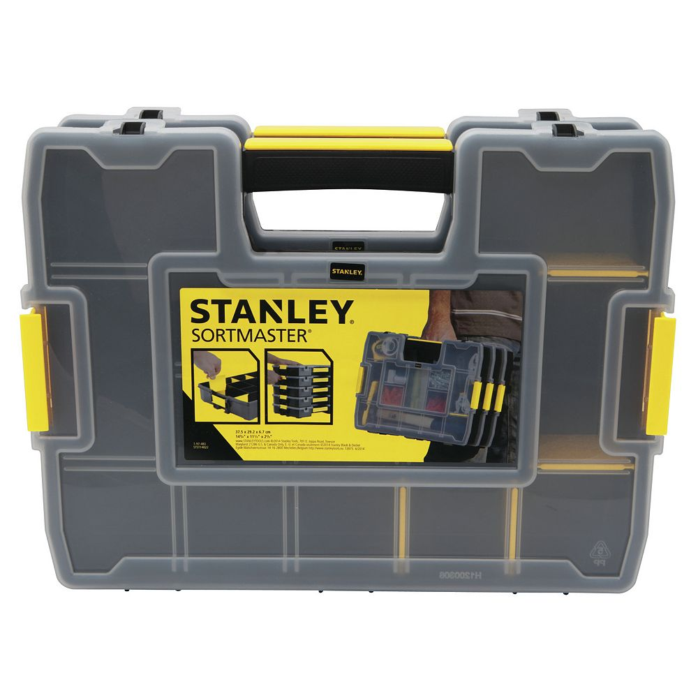 Stanley SortMaster Junior 14-Compartment Small Parts Organizer