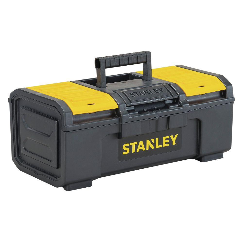 STANLEY 16-inch 1-Touch Latch Tool Box with Lid Organizers